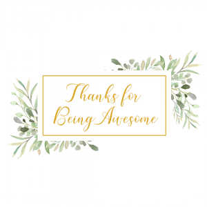 Gratitude Card Design: Thanks for Being Awesome